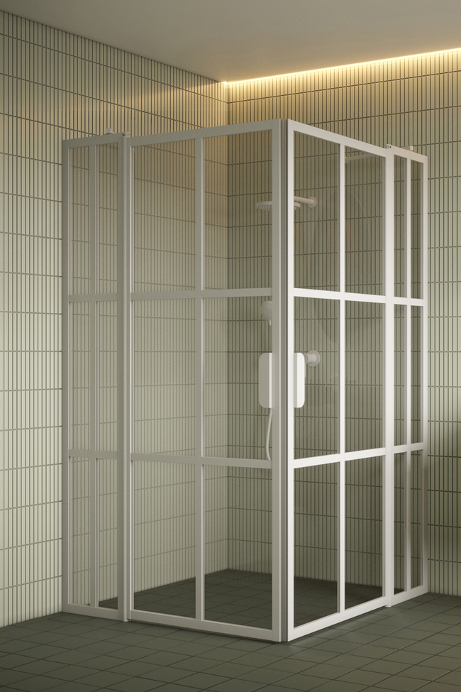 Shower enclosure with hinged doors with fixed parts Bläk 769 Paris
