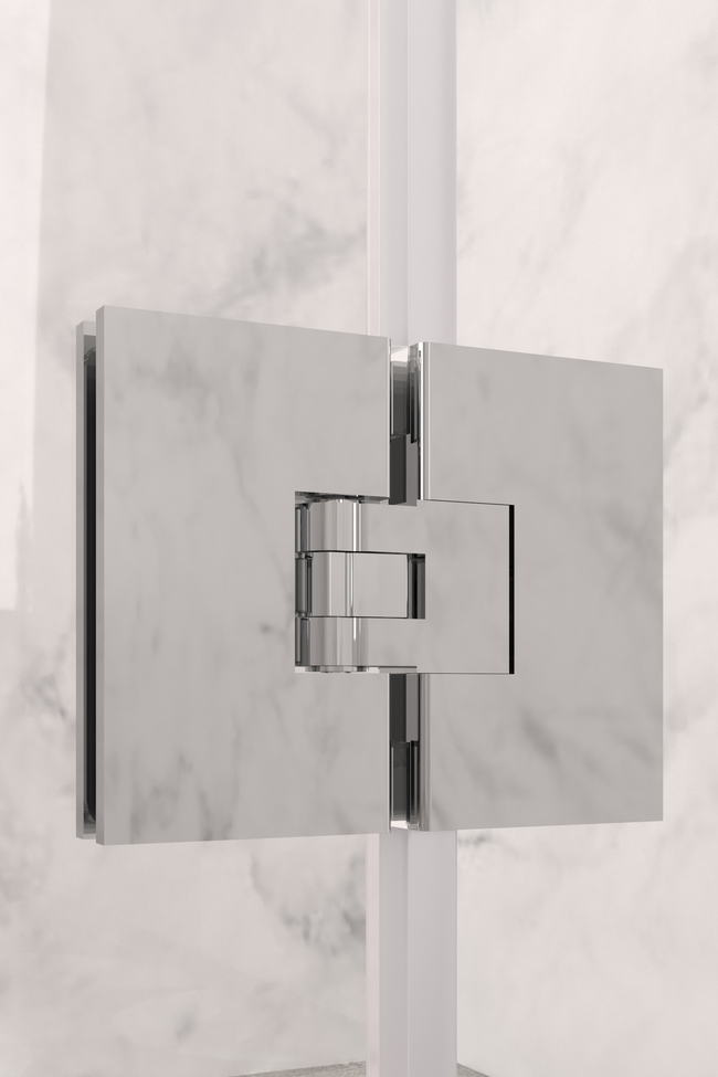 Door hinge (glass mounted)