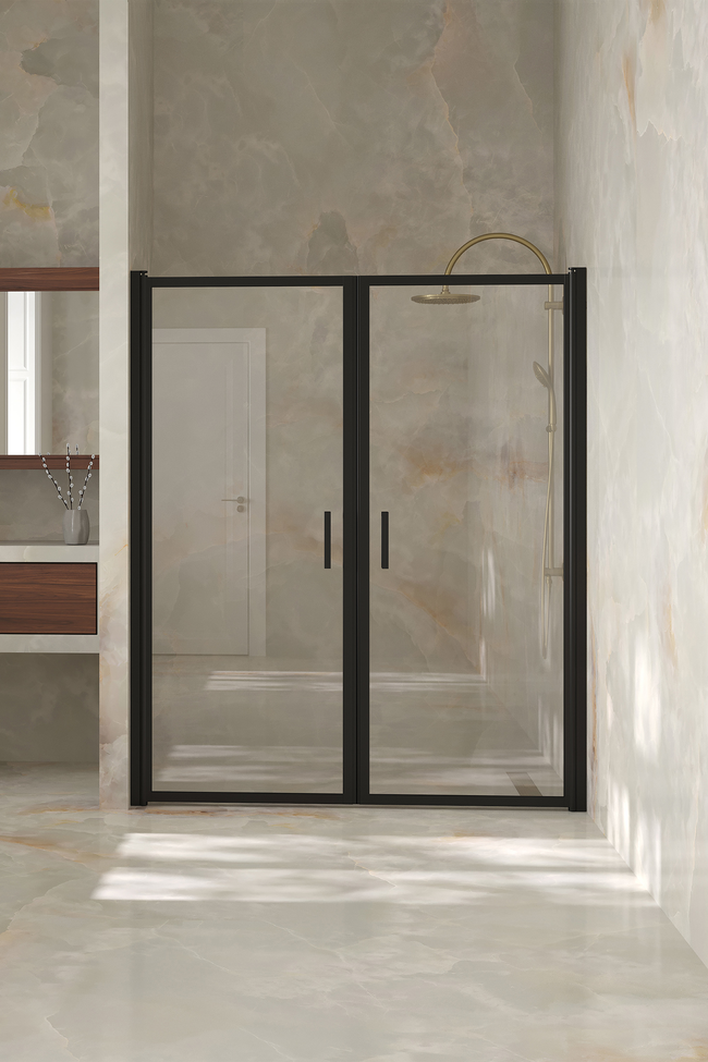 Alcove fitting with a hinged double door Bläk 742 New York