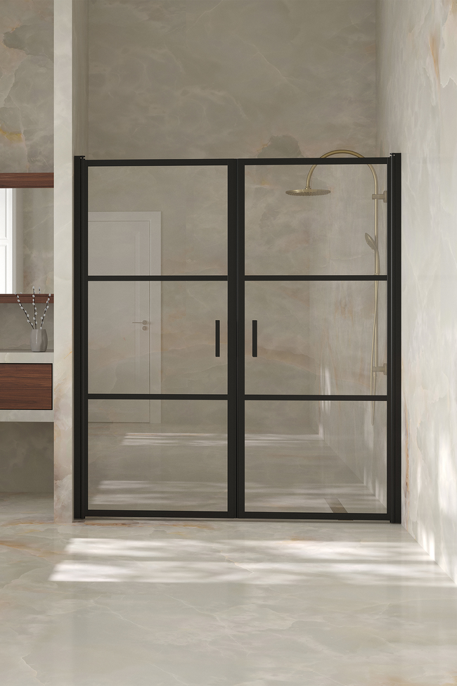 Alcove fitting with a hinged double door Bläk 747 Tokyo