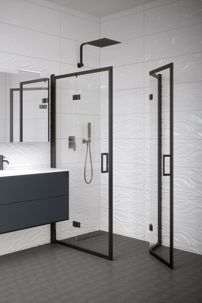 Shower enclosure with folding doors Bläk 899 New York