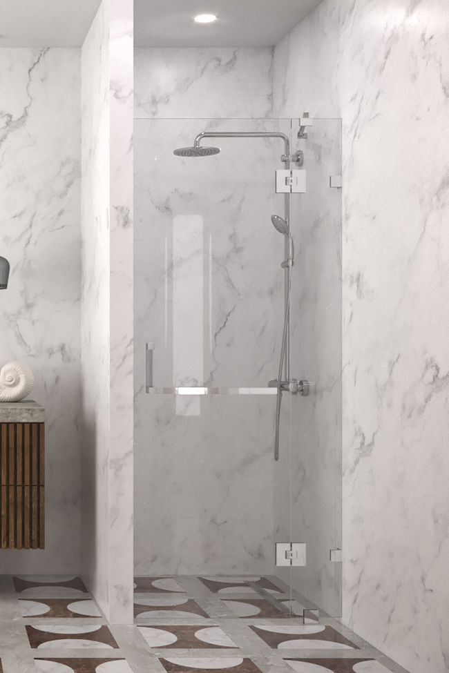Hinged shower screen with a fixed part Vetro 521