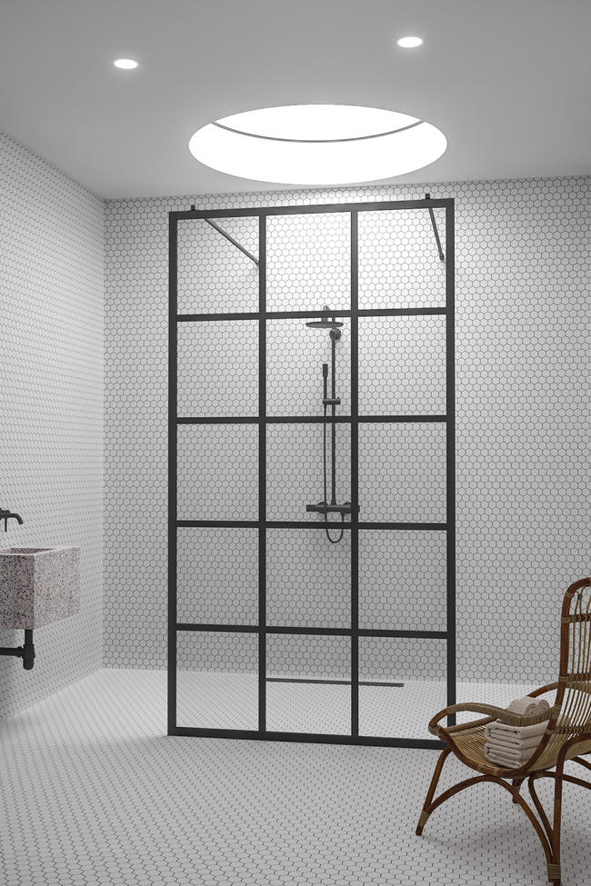 Walk-in shower screen Bläk 714 Paris
