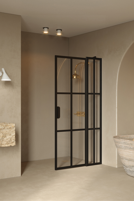 Hinged shower screen with a fixed part Bläk 739 Paris