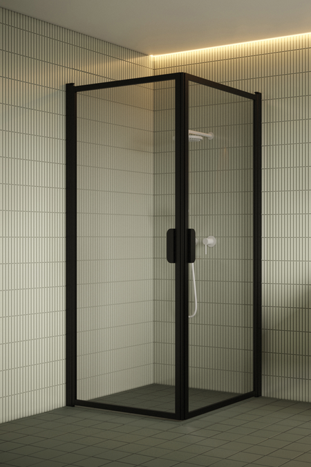 Shower enclosure with hinged doors Bläk 757 New York