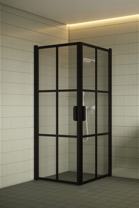 Shower enclosure with hinged doors Bläk 767 Paris