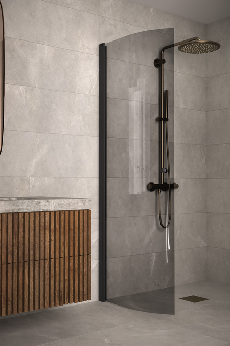 Curved hinged shower screen Classic 122