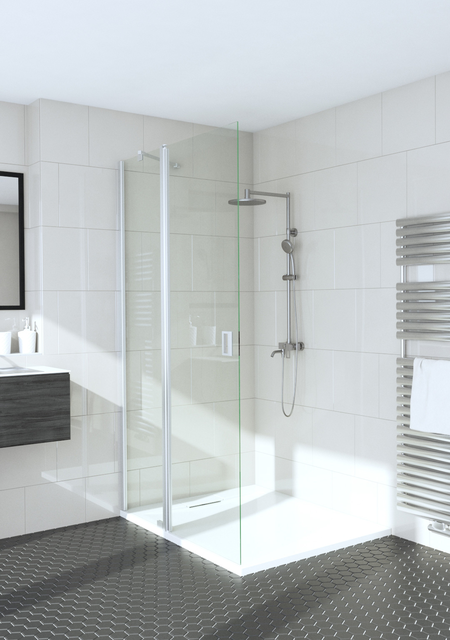 Hinged shower screen with a fixed part Fenic 314