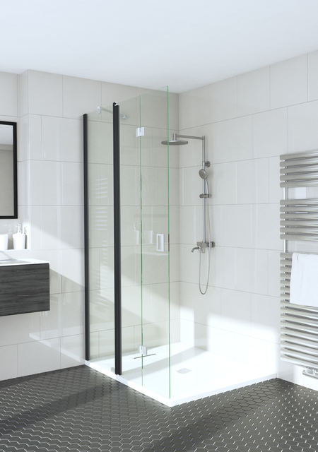 Hinged shower screen with a fixed part Fenic 315