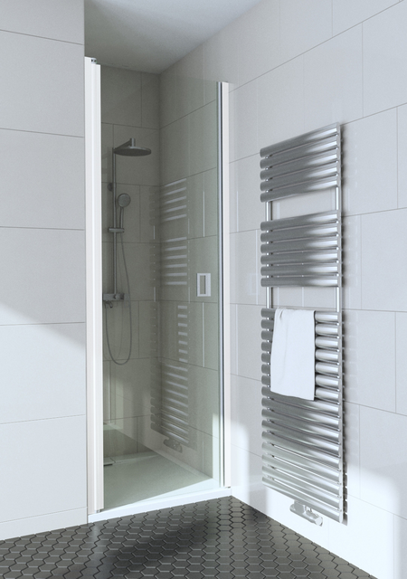 Curved shower door with magnet locking Fenic 335 (312+319)