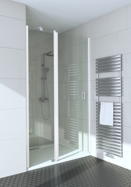Hinged shower door with a fixed part and magnet locking Fenic 337 (314+319)