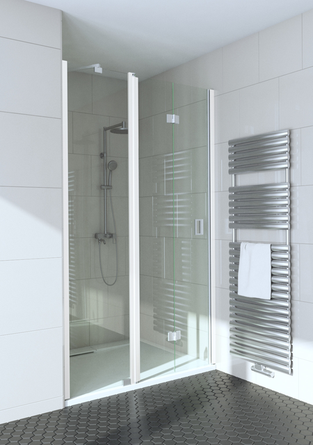 Folding shower door with a fixed part and magnet lock Fenic 338 (315+319)