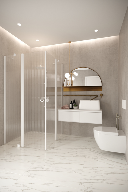 Shower enclosure with hinged doors with fixed parts Forma 379