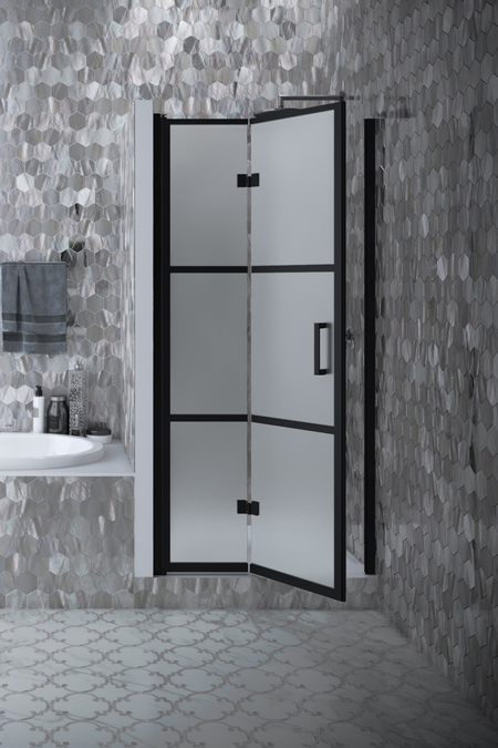 Folding shower door with magnet locking Bläk 89V Tokyo