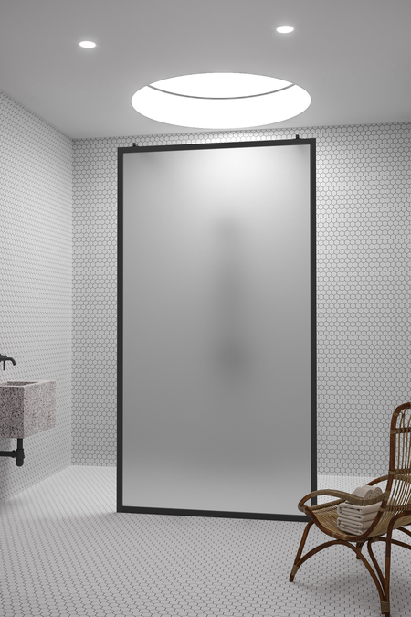 Walk-in shower screen Bläk 712 New York