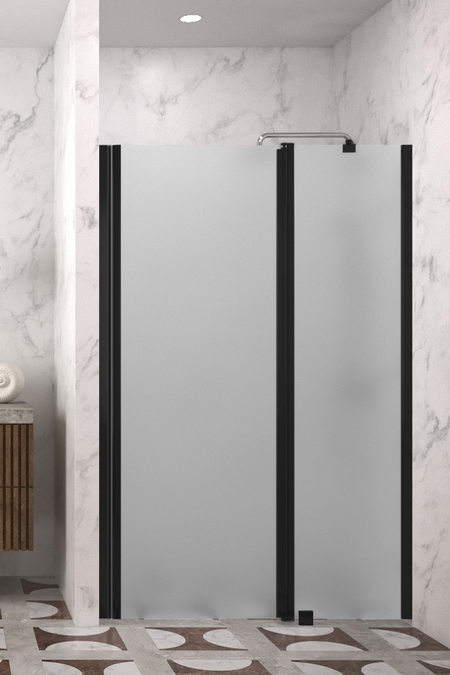 Hinged shower door with a fixed part and magnet locking Infinia 235 (214+219)