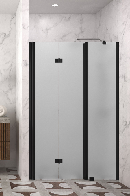 Folding shower door with a fixed part and magnet lock Infinia 236 (215+219)