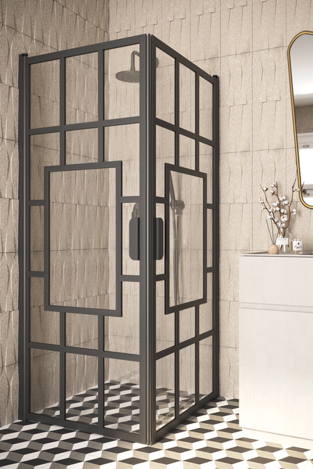 Shower enclosure with hinged doors Bläk 802 Shanghai