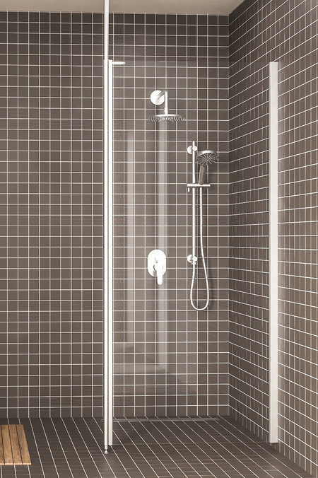 Shower screen with telescopes Express 831