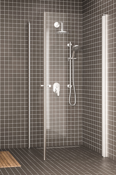Shower enclosure with hinged doors Express 848 (812x812)