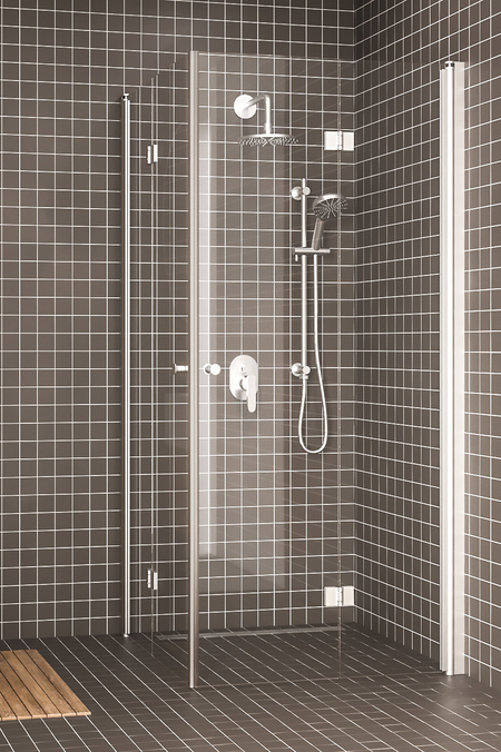 Shower enclosure with folding doors Express 850 (813x813)