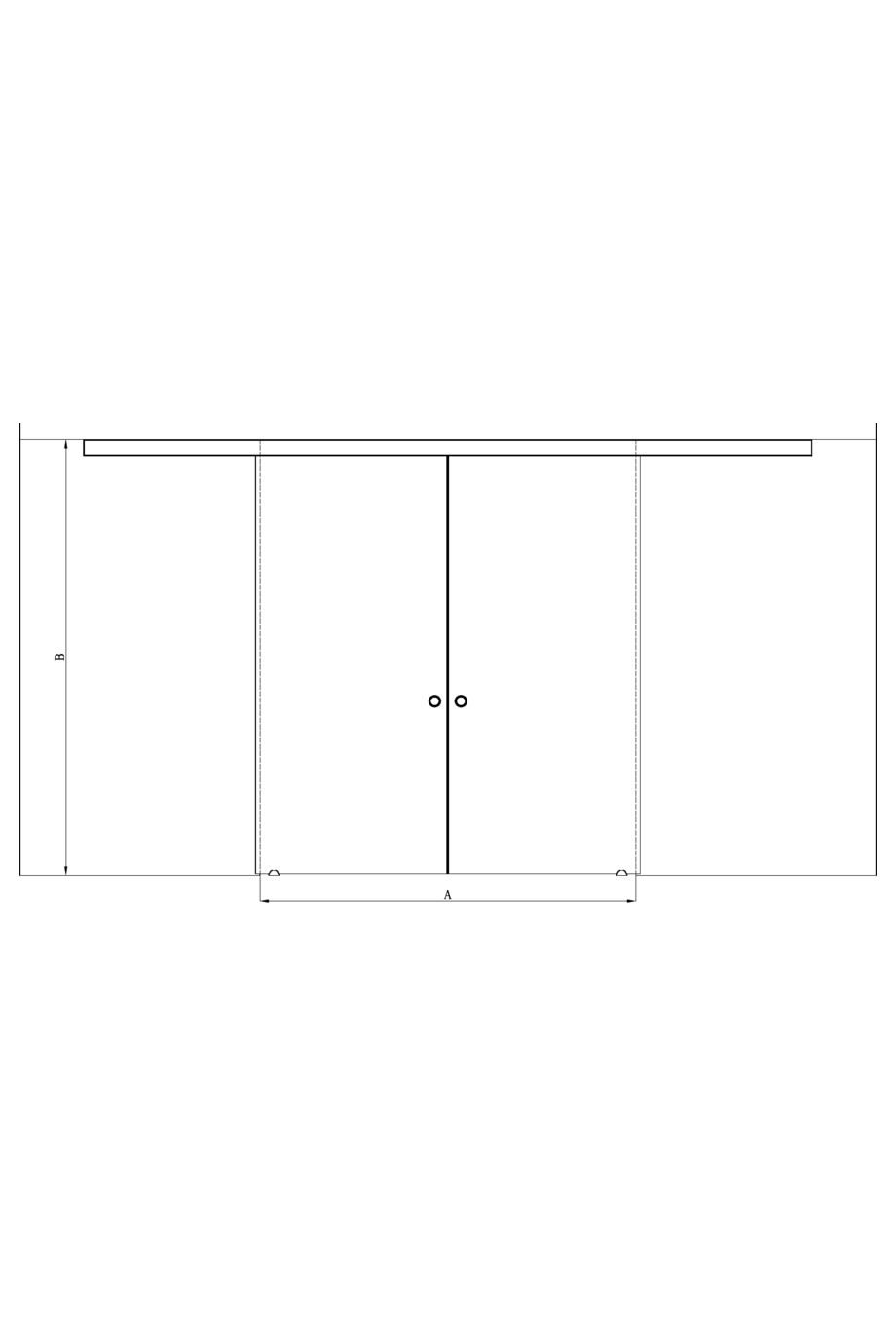 2d Double sliding doors with soft closing mechanism Vetro 617