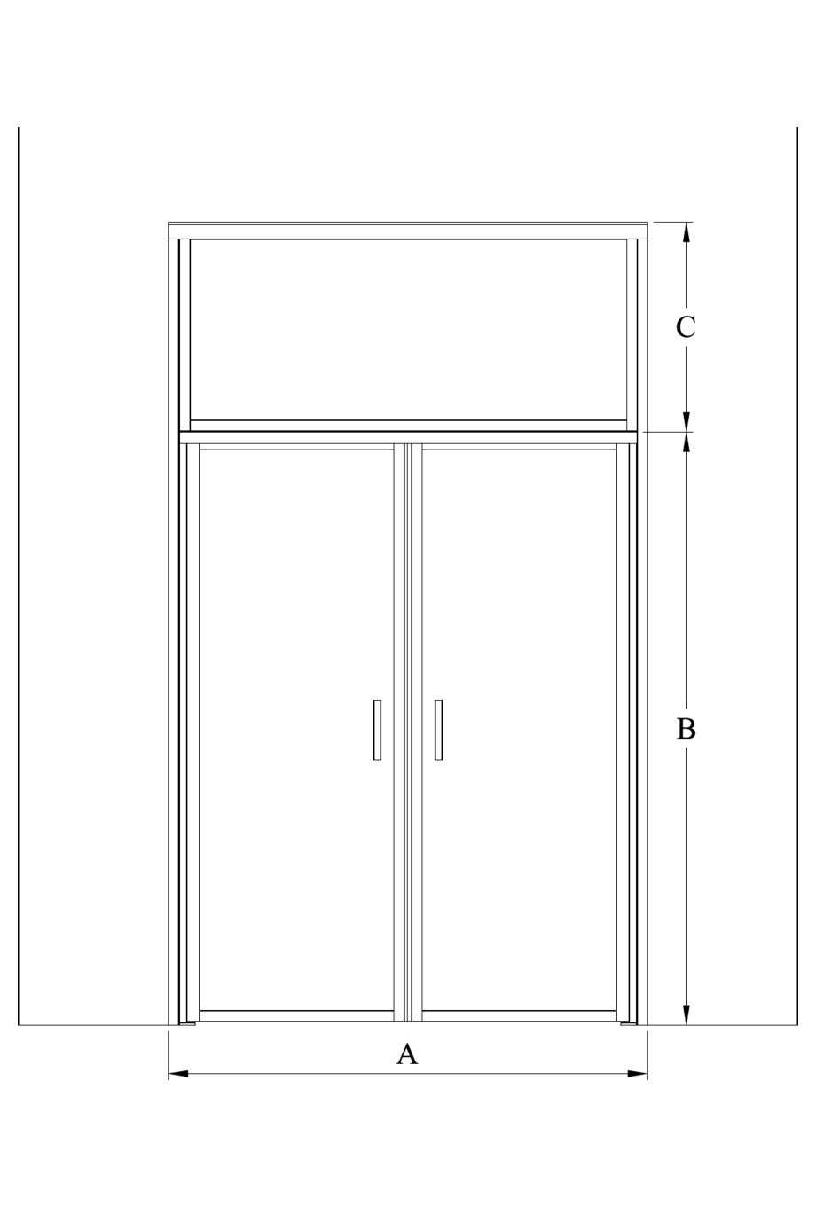 2d Pair door with upper window Bläk 704 New York