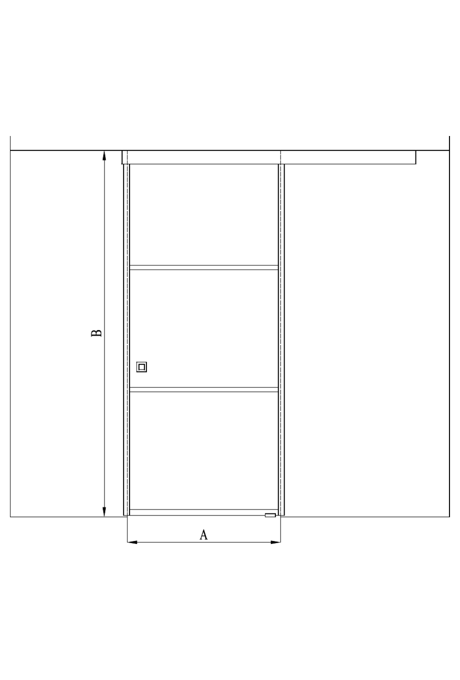 2d Sliding door with soft closing mechanism Bläk 867 Tokyo