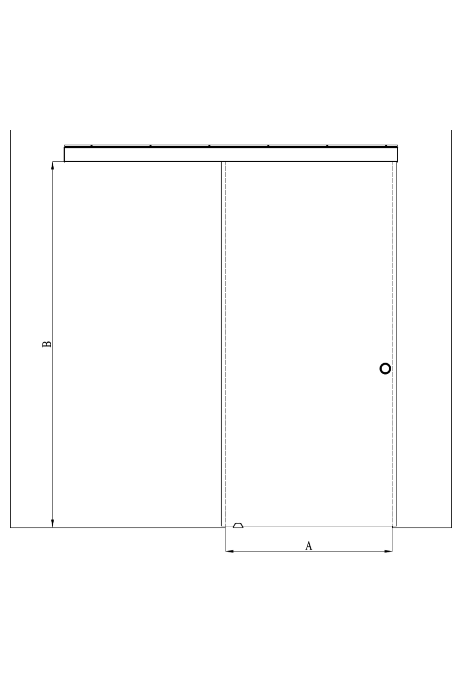 2d Sliding door with soft closing mechanism Vetro 611